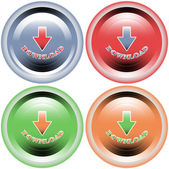 Four multi-colored buttons download — Stock Vector