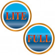 Lite and full symbol - Stock Vector
