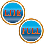 Lite and full symbol — Stock Vector