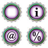 Four web icon — Stock Vector