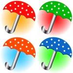 Set of umbrellas — Stock Vector #9976826
