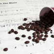 Stock Photo: Coffee & music