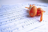 Easter & music — Stock Photo