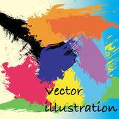 彩色油漆无缝图案 — 图库矢量图片
