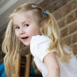 Little blond girl — Stock Photo