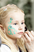 Child with face painting. Make up — Stock Photo