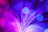 Defocused blue optical fibers — Stock Photo