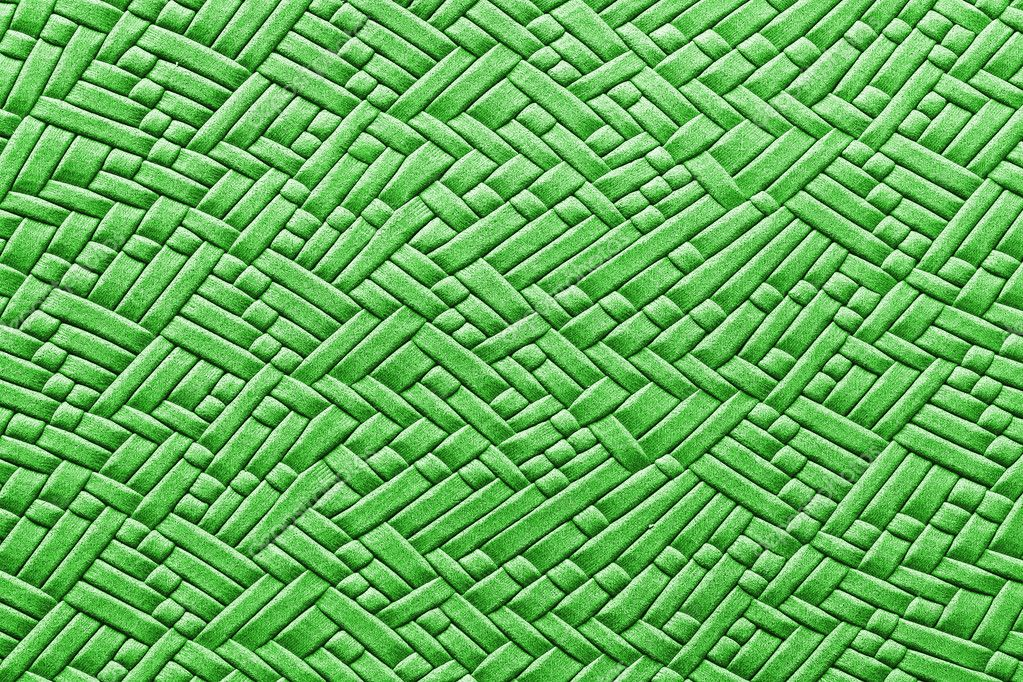 Green woven leather texture for background — Foto Stock #9118496