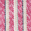 Woven material with vertical colored strips — Stock Photo