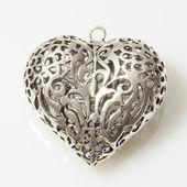 Silver Heart — Stock Photo