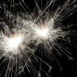 Christmas celebration sparklers — Stock Photo
