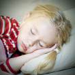 Sleeping little girl — Stock Photo #9251055