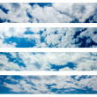Collection of horizontal sky banners — Stock Photo