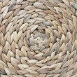 African woven round basket - Stock Photo