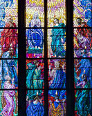 Stained glass window — Stockfoto