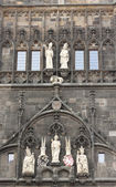 Detail of building in Prague castle — Stock Photo