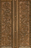 Carved pattern on wood — Stock Photo