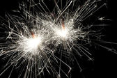 Christmas celebration sparklers — Stock Photo