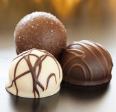 Chocolate pralines — Stock Photo