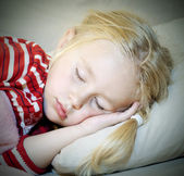 Sleeping little girl — Stock Photo