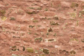 Old decayed red wall — Stock Photo