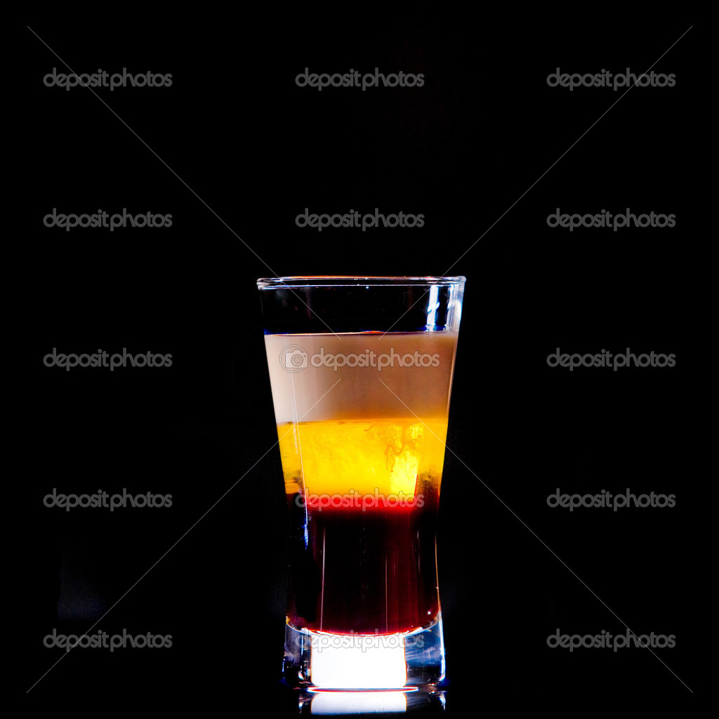 Cocktail on black background  Stock Photo #8972107
