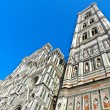 Facade and twoer of cathedral in Florence — Stockfoto #9539479