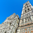 Facade and twoer of cathedral in Florence — стоковое фото #9539479