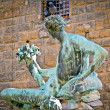 Fountain of Neptune Florence Italy — Stock Photo