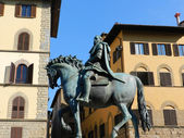 Florence The Sclupture of Cosimo de Medici — Stock Photo
