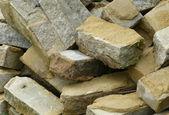 Bricks in pile — Stock Photo