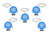 Characters with speech bubbles — Stock Photo