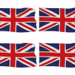 Union Jack flags — Stock Photo