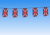 Union Jack flags flying — Stock Photo