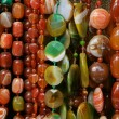 Colour beads of different form — Stock Photo