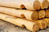 Pine whole section timbers — Stock Photo