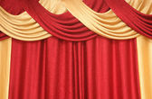 Curtain of red and yellow colour — Stock Photo