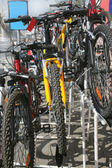 Sale by bicycles in city street — Stock Photo