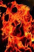 Fiery frightening mask — Stock Photo