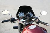 Part of claret motorcycle. — Stock Photo