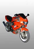 Czerwony motocykl sportowy. — Zdjęcie stockowe