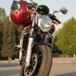 Stock Photo: Motorcycle front view.
