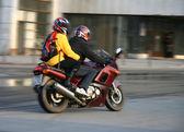 Pair on motorcycle. — Stok fotoğraf