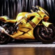 Motorcycle on  black background — Stock Photo