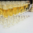Champagne glasses on a table — Stock Photo #9808884