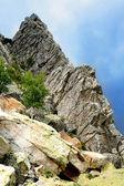 Rock against sky — Stock Photo