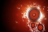 Sound speaker music background — Stock Photo