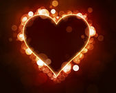 Bokeh Heart background — Stock Photo
