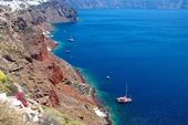The shores of the island of Santorini. — Stock Photo