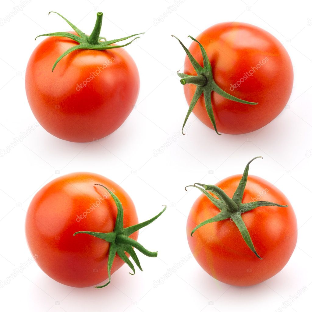 Tomato set isolated on white background — Stock Photo #9267547